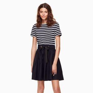 Kate Spade Stripe Knit Mixed Media Dress